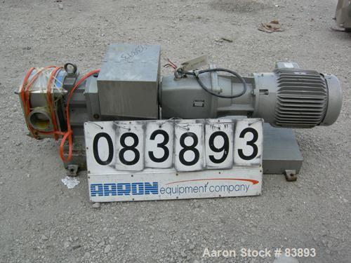 """USED: Fristam positive displacement pump, model FLFN-130L, 316 stainless steel. 4"""" sanitary inlet and outlet. Rated .645 gal..."""
