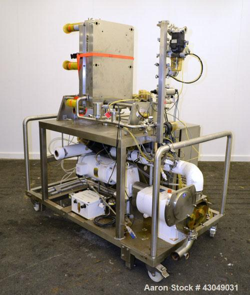 "Used- G&H Products Rotary Positive Displacement Pump, Model GHPD-722, 316 Stainless Steel. 3"" Tri-clamp inlet/outlet. Approx..."