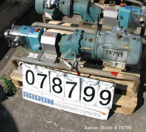 "Used- GH Products Rotary Positive Displacement Pump, Model GHP-1120, 316 Stainless Steel. 2"" tri-clamp inlet/outlet. Approxi..."