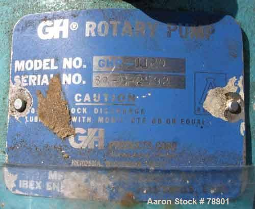 """Used- GH Products Rotary Positive Displacement Pump, Model GHP-1120, 316 Stainless Steel. 2"""" tri-clamp inlet/outlet. Approxi..."""
