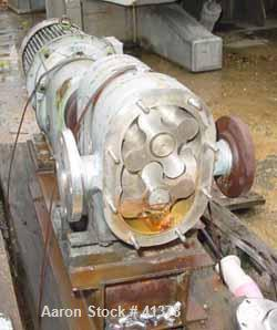 """Used- Rotary Lobe Positive Displacement Pump, 316 Stainless Steel. Approximately 60 gallons per minute. 2"""" inlet/outlet. (2)..."""