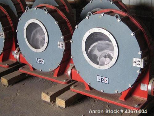 Used-Larox Pump, Model LPP65-BST10 6-0-N-D, Nord programmable variable frequency drive.  Low hours.
