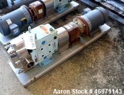 Unused- Waukesha Positive Displacement Pump, Model 060U2, Stainless Steel. Approximate displacement 0.153 gallons per revolu...