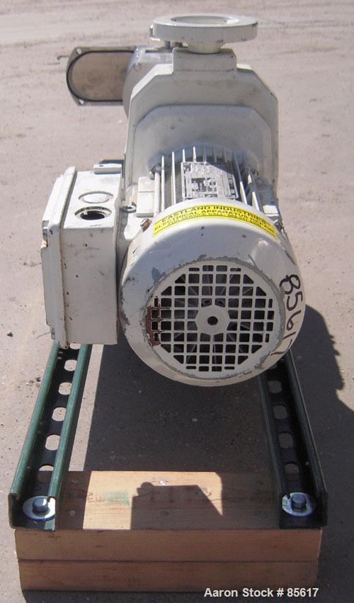 Used- Flowtech Unibloc Rotary Positive Displacement Pump, Model 5000, Series 300, 316 Stainless Steel, Horizontal. Approxima...