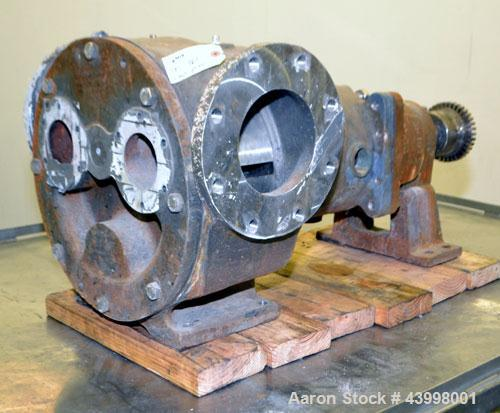 """Used- Rotary Gear  Pump Body Only, 316 Stainless Steel.  6"""" Flange inlet/outlet."""