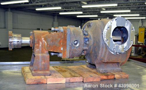 "Used- Rotary Gear  Pump Body Only, 316 Stainless Steel.  6"" Flange inlet/outlet."