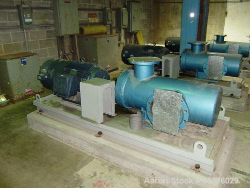 Unused- Plenty Triro model HEA1250-3, 10 x 8 positive displacement fuel pump with Leeson 75 hp C190180 motor, frame: 405T, 5...