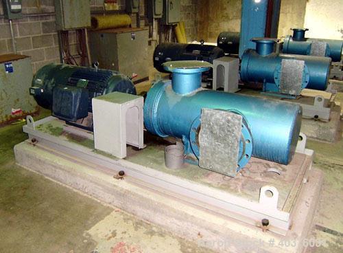 Unused- Plenty Triro model HEA1250-3, 10 x 8 positive displacement fuel pump with Leeson 75 hp C190180 motor, frame: 405T, 5...