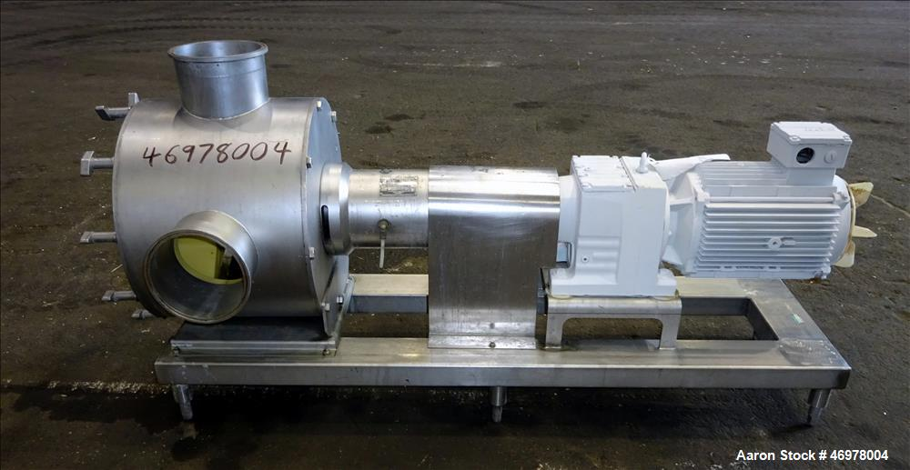 "Used- Sine Ecosine Sanitary Rotary Positive Displacement Pump, Model EC60WPPTKS173, 316 Stainless Steel. 6"" Tri-clamp inlet/..."