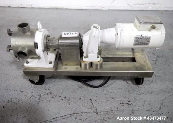 Used-Sine positive displacement pump, stainless steel, model MR-125, 1.25 hp, serial# EQ000A1-01.