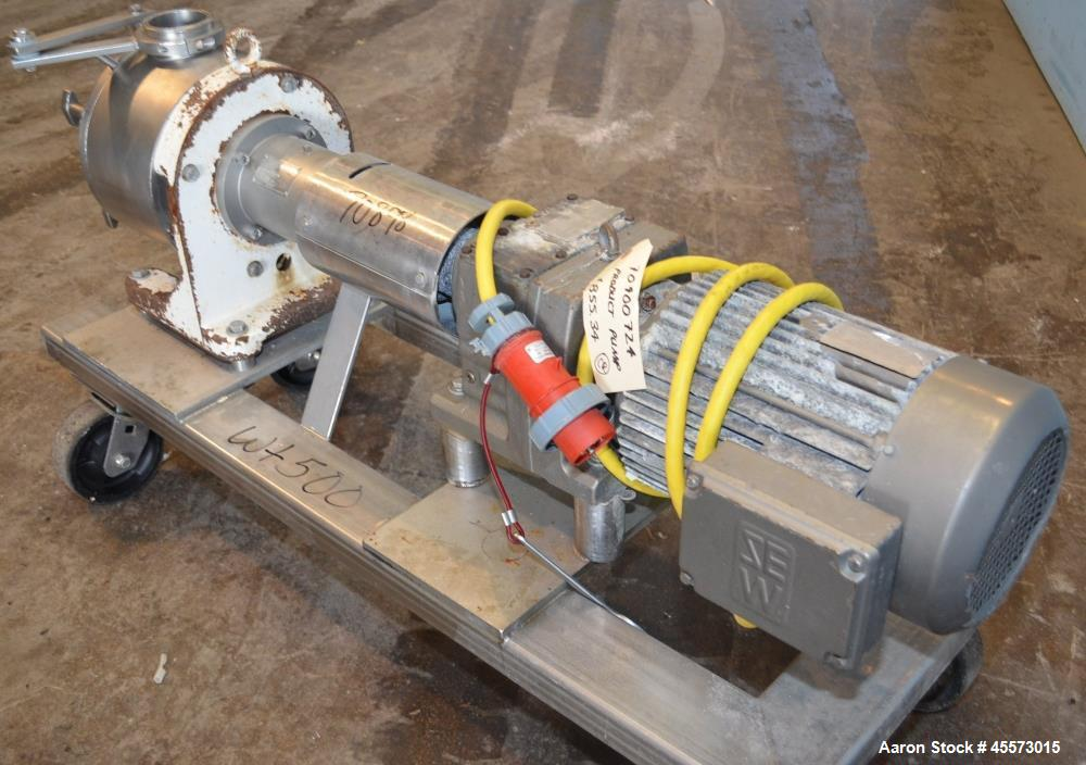 Used- Sine Stainless Steel Centrifugal Pump, Model MR135