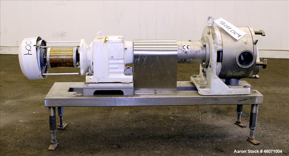 "Used- Sine Medium Duty Sanitary Rotary Positive Displacement Pump, Model MR-135, 316 Stainless Steel. 3"" Tri-clamp inlet/out..."