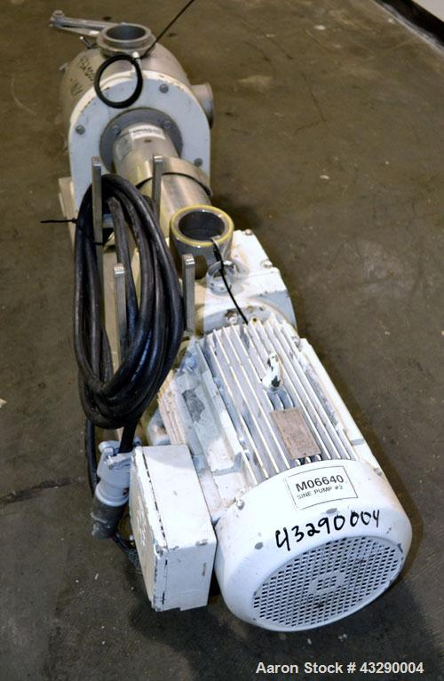 """Used- Sine Medium Duty Sanitary Rotary Positive Displacement Pump, Model MR-150, 316 Stainless Steel.4"""" Tri-clamp inlet/outl..."""