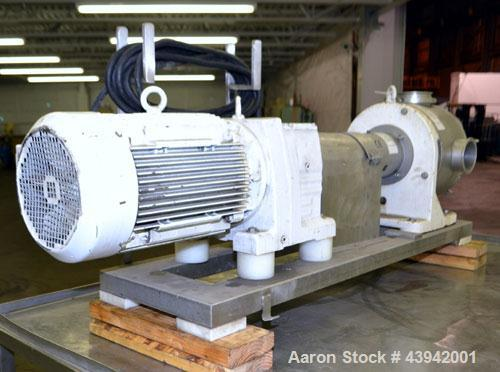 "Used- Sine Medium Duty Sanitary Rotary Positive Displacement Pump, Model MR-150, 316 Stainless Steel. 4"" Tri-clamp inlet/out..."