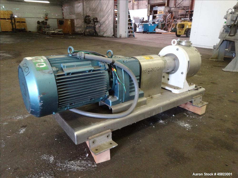 Used- Sine Sanitary Rotary Positive Displacement Pump, Model MR-150