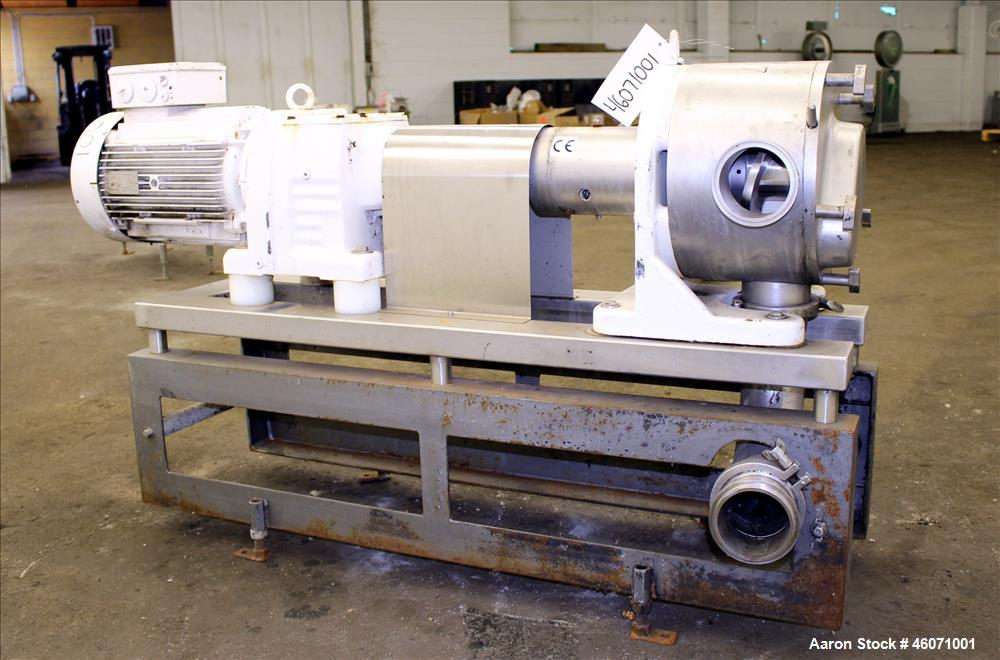 Used- Sine Medium Duty Sanitary Rotary Positive Displacement Pump