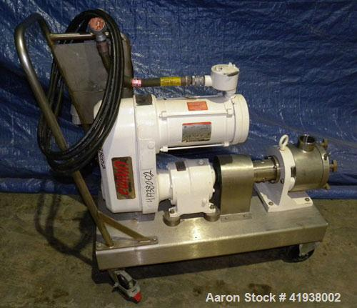 "Used- Sine Rotary Positive Displacement Pump, Model MR125-NNTC, 316 Stainless Steel. 2-1/2"" tri-clamp inlet/outlet. (1) Sing..."