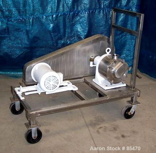 "Used- Sine Sanitary Rotary Positive Displacement Pump, Model SPS-35, 316 stainless steel. 3-1/2"" tri clamp inlet/outlet. (1)..."