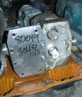 Used- APV Rotary Positive Displacement Pump, Model R4R, 316 Stainless Steel. Approximate capacity 90 gallons per minute at 6...