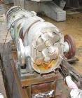 Used- Rotary Lobe Positive Displacement Pump, 316 Stainless Steel. Approximately 60 gallons per minute. 2