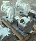 Used- Sine Ecosine Sanitary Rotary Positive Displacement Pump, model EC40WVVTKS460, 316 stainless steel. 4