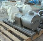 Used- Sine Ecosine Sanitary Rotary Positive Displacement Pump, model EC40WVVTKS460, 316 stainless steel. 4