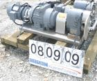 USED:Tri Clover rotary positive displacement pump, model PR125-50M-UC4-SL-S, 316 stainless steel. Approximately 120 gallons ...
