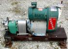 USED: Tri Clover rotary positive displacement pump, model PRR10-1-1/2M-TC1-4-ST-S, 316 stainless steel. Approximate 10 gallo...