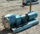Used- Waukesha Rotary Positive Displacement Pump, Model 030US-AP, 316 Stainless Steel. Approximately 36 gallons per minute a...