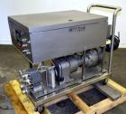 Used- Waukesha Rotary Positive Displacement Pump, Model 15, 316 Stainless Steel. Approximately 9 gallons per minute at 200 p...