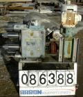 USED: Waukesha positive displacement pump parts consisting of (1) model 320 gear housing, (2) shafts and a 3 hp, 3/60/230/46...