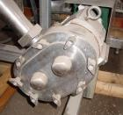 USED: Waukesha Cherry Burrell rotary positive displacement pump, model 60, stainless steel. 2-1/2