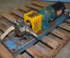Used- Stainless Steel Zenith Series 9000 Gear Pump, Model 6180906001,