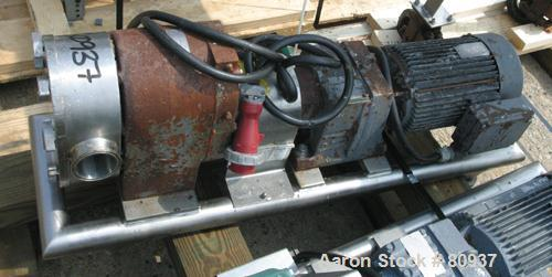Used: Stainless Steel Tri Clover rotary positive displacement pump, model PR125-5M-UC4-SL
