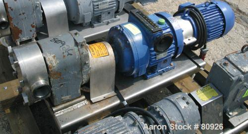 Used: Stainless Steel Tri Clover rotary positive displacement pump