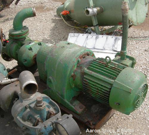 Used- Stainless Steel Tuthill/Ulrich Rotary Positive Displacement Pump, Model 3A