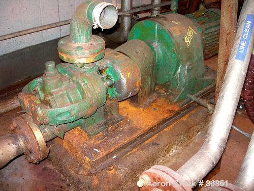 USED: Tuthill/Ulrich rotary positive displacement pump, model 3A, stainless steel. Approximate 66 gallons per minute capacit...