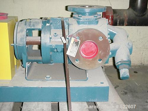 "USED: Tuthill pump, model GG2101. 3"" inlet and 3"" outlet, side suction, cast iron body, Class B pump, rated for up to 500,00..."
