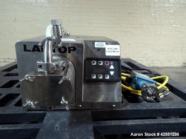 "Used- Unibloc PD Labtop Rotary Lobe Pump, Model 250, Stainless Steel. Has polyflex plastic rotors, 1"" inlet/outlet. Approxim..."