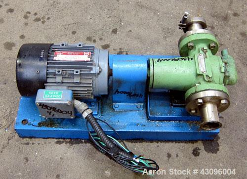 Used- Viking Heavy Duty Rotary Gear Positive Displacement Pump, Model HL 4197, 316 Stainless Steel. Approximately 90 gallons...