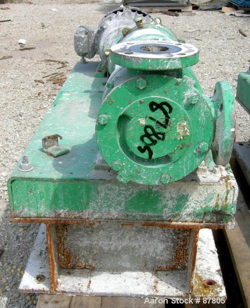 "Used- Viking Heavy Duty Rotary Pump, Model KK4724, 316 Stainless Steel. Approximately 50 gallons per minute at 420 rpm. 2"" d..."