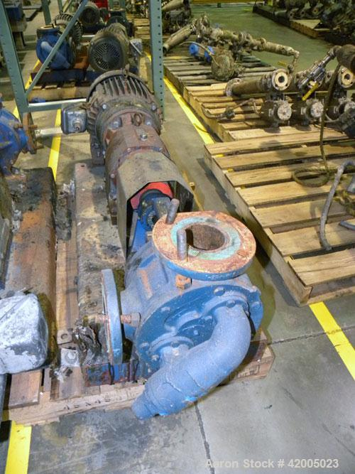 Used- Viking Industrial Duty Rotary Gear Positive Displacement Pump, model LL125, carbon steel. Approximately 135 gallons pe...