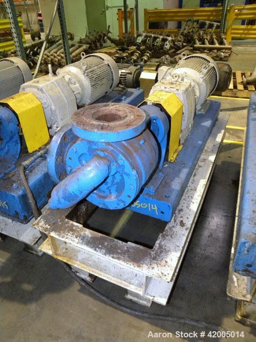 Used- Viking Industrial Duty Rotary Gear Positive Displacement Pump, model LS124A, carbon steel. Approximately 200 gallons p...