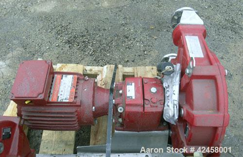 Used- Waston-Marlow Bredel Hose Pump, Model SPX25, Carbon Steel. Approximate capacity 3.87 gallons per minute at 49 rpm, 0.7...
