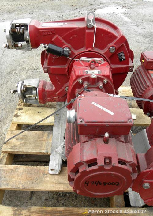 Used- Waston-Marlow Bredel Hose Pump, Model SPX32, Carbon Steel. Approximate capacity 14.3 gallons per minute at 87.5 rpm, 0...