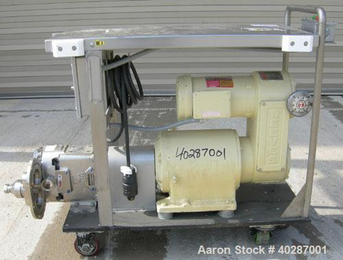 Used-Waukesha Cherry Burrell positive displacement pump, model 030, 316 stainless steel. Approximate capacity 36 gallons per...