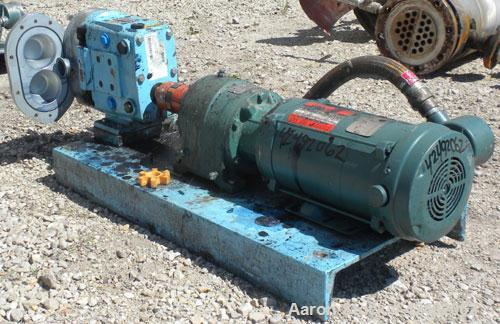 Used- Waukesha Rotary Positive Displacement Pump, Model 030U2-AP, 316 Stainless Steel. Approximately 36 gallons per minute a...