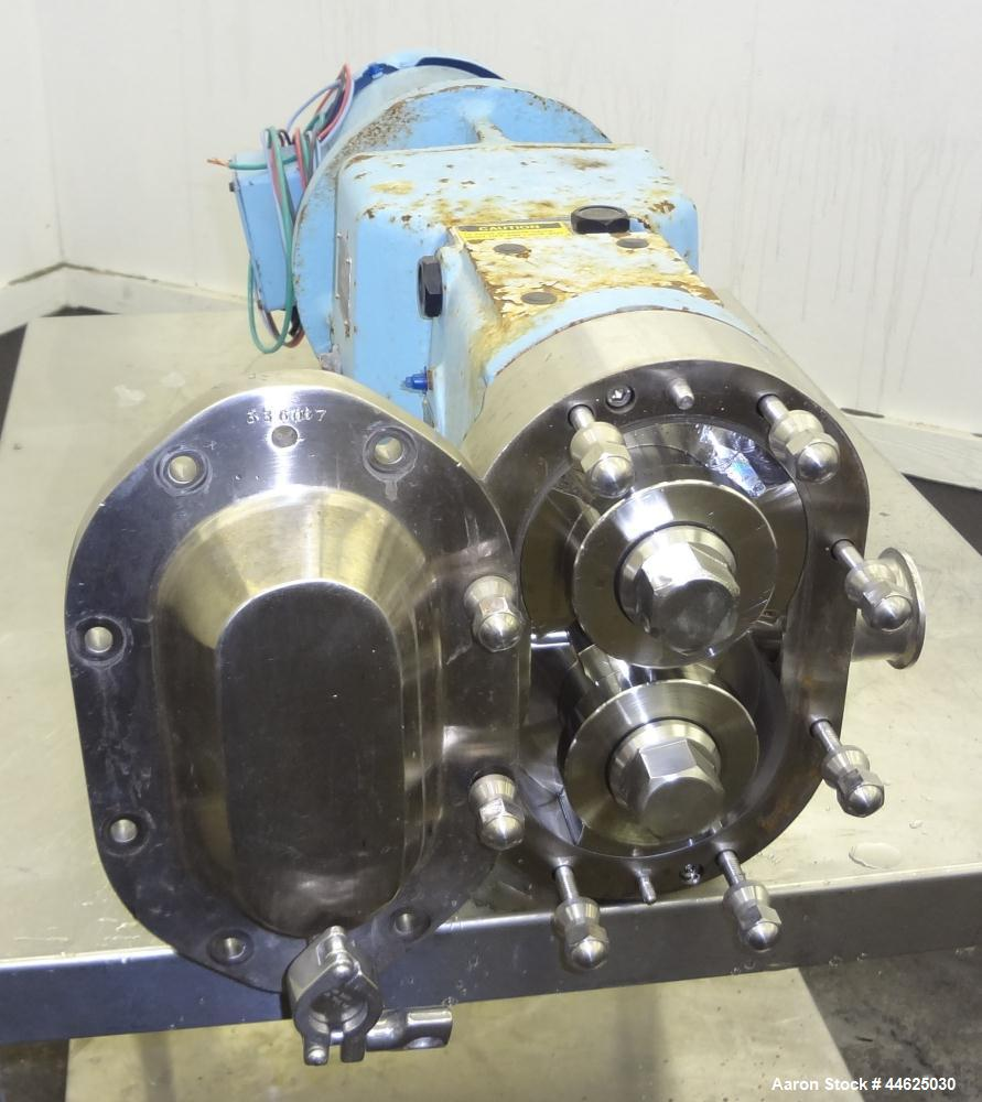 Used- WaukeshaUniversal 2 Rotary Positive Displacement Pump, Model 030U2, 316 Stainless Steel.  Approximate capacity 36 gall...