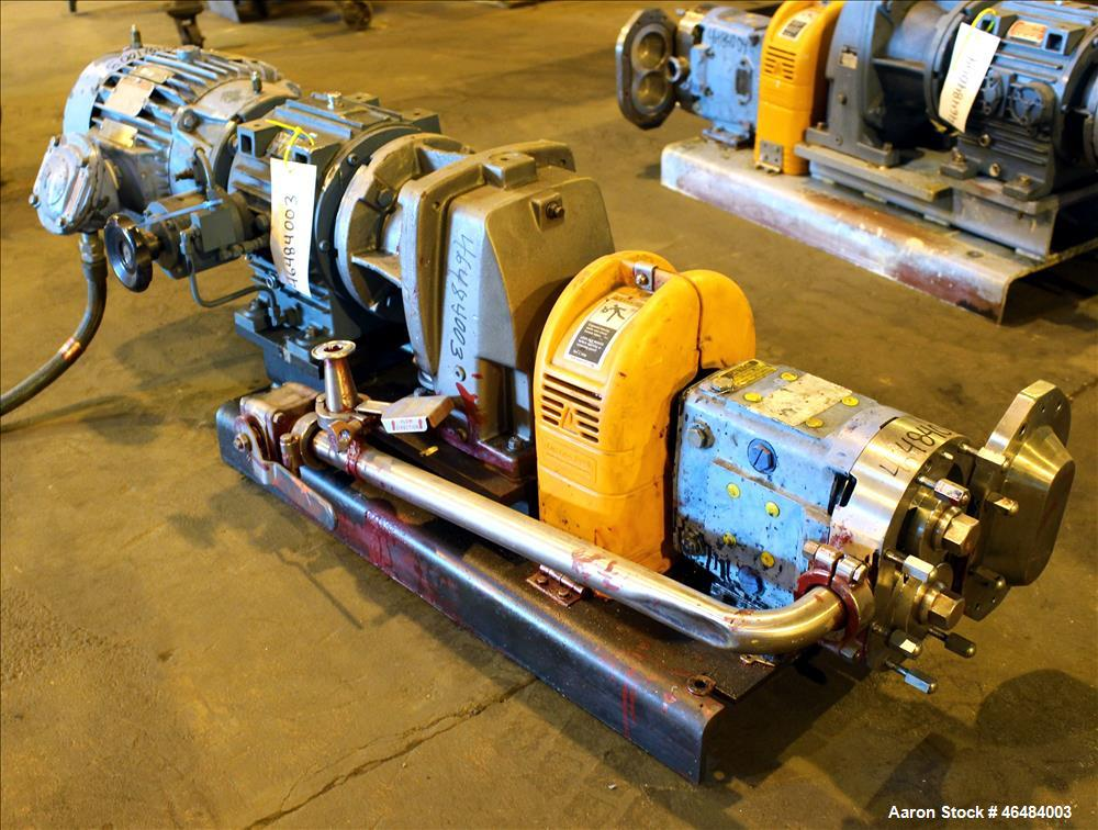 Used- Waukesha Rotary Positive Displacement Pump, Model 030U2