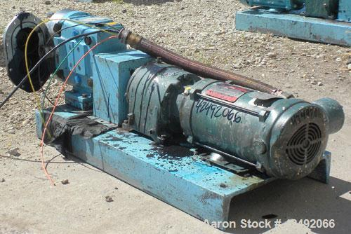 Used- Stainless Steel Waukesha Rotary Positive Displacement Pump, Model 030U2AP